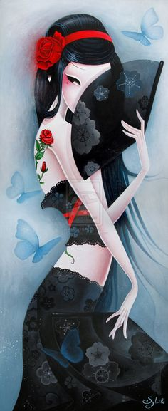 The Modern GEISHA ✿ :: Geisha Illustration - by LadySybile on deviantart