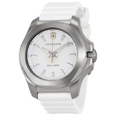 9bbeffb075a Victorinox Swiss Army I.N.O.X V White Dial Watch White Rubber Strap 241769