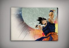 Goku  Dragon Ball Anime Manga Watercolor Print por EpicShoppe