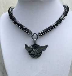 Eagle Chainmaille Necklace Soaring Eagle by KatiesCustomJewelry