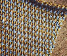 Crochet For Beginners Tunisian crochet weave stitch design Crochet Afghans, Tunisian Crochet Patterns, Crochet Borders, Tunisian Crochet Blanket, Crochet Edgings, Crochet Granny, Knitting Patterns, Chevron Crochet, Diy Crochet