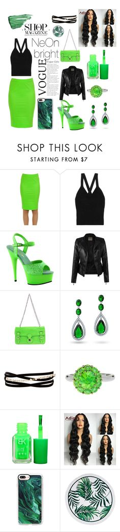 """Neon Bright"" by kieshajackson ❤ liked on Polyvore featuring Patrizia Pepe, Bottega Veneta, Pleaser, Ralph Lauren, Bling Jewelry, Kenneth Jay Lane, Color My Life, Casetify and By Terry"