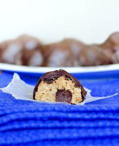 No way! Healthy cookie dough truffles!!