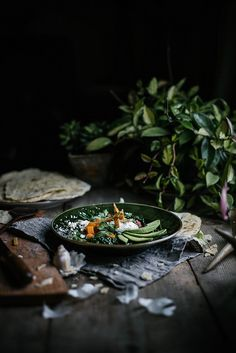 Sweet Potato & Kale Tortilla Soup from Feast by Sarah Copeland / Beth Kirby Soup Recipes, Whole Food Recipes, Vegetarian Recipes, Vegetarian Soup, Recipies, Food Styling, Dark Food Photography, Tabletop Photography, Sweet Potato Kale