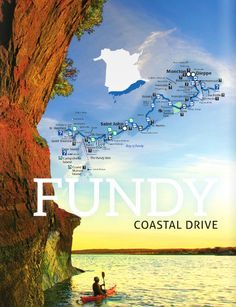 Best spots for leaf-peeping in New Brunswick, Canada Fundy Coastal Drive If you think the Bay of Fundy is breathtaking in the summer, just imagine it dressed in brilliant fall colour. East Coast Travel, East Coast Road Trip, Saint John, East Coast Canada, Places To Travel, Places To Visit, Visit Canada, Canada Trip, Pei Canada