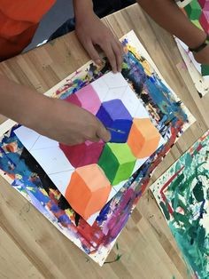 my students love this project soooooo much! Middle School Art Projects, School Ideas, 7th Grade Art, Kids Art Class, Art Lessons Elementary, Elements Of Art, Art Lesson Plans, Art Classroom, Teaching Art
