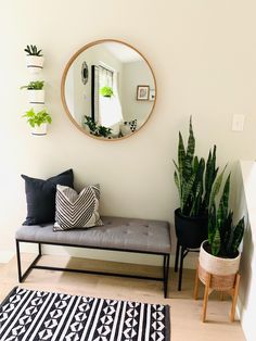 Home Room Design, Home Interior Design, Living Room Designs, Home Living Room, Living Room Decor, Bedroom Decor, Home Entrance Decor, Bench Decor, Home Decor Inspiration