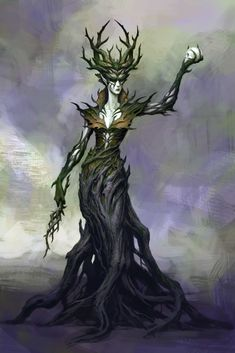 One of the wizards concepted for the Cloaked Ascendancy module of Neverwinter. Fantasy Forest, Dark Fantasy, Fantasy Art, Elven City, Plant Monster, Monster Art, Elf Druid, Elf Art, Cool Monsters