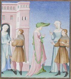 Publius Terencius Afer, Comoediae [comédies de Térence] ca. 1411;  Bibliothèque de l'Arsenal, Ms-664 réserve, 210v