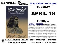 Adult book discussion. Blue Jacket.