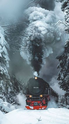 Science Discover Pronta per la prossima destinazione Pronta per la prossima destinazione Парова Машина, Фотографії Природи Train Tracks, Train Rides, Motor A Vapor, Old Steam Train, Train Art, Old Trains, Train Pictures, Winter Scenery, Train Journey