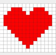 Risultati immagini per pixel art template christmas Pixel Art Minecraft, Minecraft Templates, Pixel Art Templates, Minecraft Heart, Disney Minecraft, Minecraft Ideas, Minecraft Buildings, Pixel Art Dragon, Loom Beading