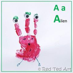 Starting out on the #handprint #alphabet A is for Alien.. what B would you make next?