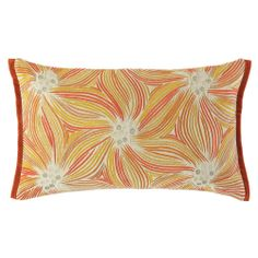 Adorned with colorful rows of embroidery and pretty side flange that matches the solid velvet back, the Daphne pillow in bittersweet will erase all memories of the cold, gray winter!