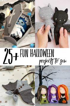 Cute Halloween, Halloween Crafts, Fabric Crafts, Sewing Crafts, Diy Crafts, Felt Patterns, Sewing Patterns Free, Halloween Sewing Projects, Pet Toys