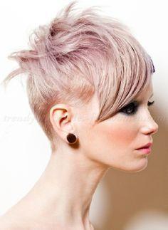 pink undercut pixie cut