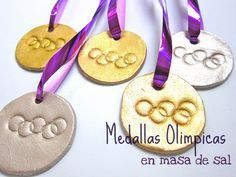 Nuestro Mundo Creativo: Medallas Olímpicas hechas con Masa de Sal