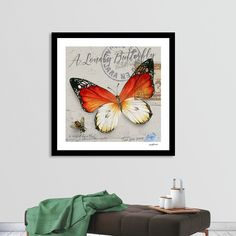 This exclusive edition Giclée Art Print, designed by DavidLoblaw, comes with a numbered and signed certificate of authenticity. Printed on 100% cotton, acid-free, heavyweight paper using HDR UltraChrome Archival Ink, this artwork reflects our commitment to the highest color, paper, and printing s... Orange Art, Welcome Gifts, Vintage Butterfly, Canvas Prints, Art Prints, Paper Texture, Hdr, Fine Art Paper, Authenticity