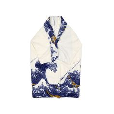 Fine Art Collection Japanese Painting Hokusai's the Great Wave Chic... ($228) ❤ liked on Polyvore featuring silver and women's clothing