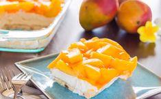 Fruchtig, süß und cremig - ein absoluter Cheesecake-Traum! Dieser #Mango-#Cheesecake schmeckt einfach köstlich und das Beste daran: Man muss die Torte nicht einmal #backen.