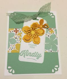 Thank You Flower Card - Deb Furnans - Stampin' Up