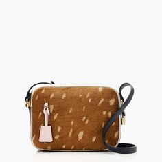J. Crew Signet bag in colorblock Italian calf hair (Totally crushing on this little spotted bag!)