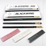 Blackwing pencils with replaceable erasers - for serious writing and calculations. #pencils #sustainable #office #desk