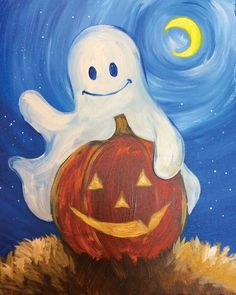 Image result for easy halloween painting