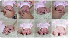Совет по фотосъемке новорожденных младенцев. Если какие-то части тела родителей влезли в кадр при фотосъемке младенца, нужно заранее позаботиться об их контрастности относительно остальных цветов композиции. Например, на руки лучше надеть контрастные зеленые перчатки, так легче удалять их при последующей обработке в фотошопе.