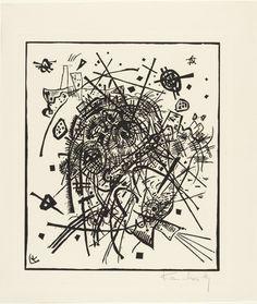 Vassily Kandinsky - Kleine Welten VIII (Epreuve d'essai, Petits Mondes VIII) 1922 Xylographie sur papier x 28 cm Inscripciones : MO. : VK Legs Mme Nina Kandinsky, 1981 Número de inventario : AM Wassily Kandinsky, Kandinsky Prints, Berlin, Artwork Images, National Gallery Of Art, Reproduction, Free Illustrations, Oeuvre D'art, Art Drawings