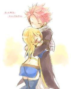 Natsu and Lucy XDDD #nalu
