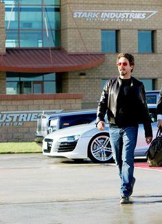 Tony Stark on site at Stark Industries