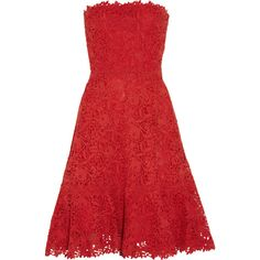 Valentino Strapless cotton-macramé lace dress and other apparel, accessories and trends. Browse and shop 8 related looks.