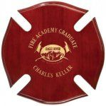 Firefighter Maltese cross award plaque made with piano finish rosewood. No need for engraving plate as your text, logo or design is laser engraved directly into the plaque! Corporate Awards, Crystal Awards, Acrylic Awards, Engraved Plates, Service Awards, Maltese Cross, Wall Plaques, Laser Engraving, High Gloss