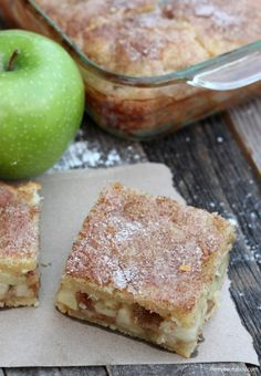 Delicious Homemade Apple Pie Bars are the perfect dessert recipe for Christmas and the holidays. YUM everyone gets their own piece!