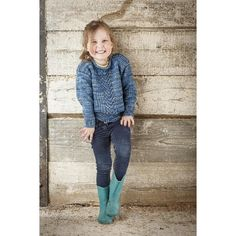 Easy to wear, this DK sweater has a cute cabled panel and rolled neckline. Ideal for those welly-wearing, rope-swinging days.Sizes To fit age: 2 (3 4 5 6 7 8 9 10) years To fit chest: 20¾ (22 23¼ 24 24¾ 25½ 26½ 27¼ 28) in {53 (56 59 61 63 65 67 69 71) cm} Finished chest: 25¾ (26½ 27¼ 28¼ 29 29¾ 30¾ 31½ 32¼) in {65.5 (67.5 69.5 71.5 73.5 76 78 80 82) cm} Length to underarm: 7¾ (8 8¼ 8¼ 8¾ 9¼ 10¼ 11 11½) in {20 (20.5 21 20.5 22 23.5 26 27.5 29) cm} Finished length: 13 (13½ 13¾ 14¼ 15 15¾ 17…