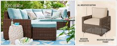 pier 1 has lots of beach cooections- Echo Beach Seating Collection: Outdoor Furniture | Pier 1 Imports