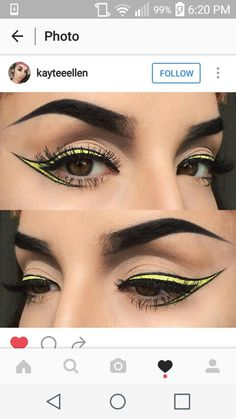 Graphic black and yellow liner