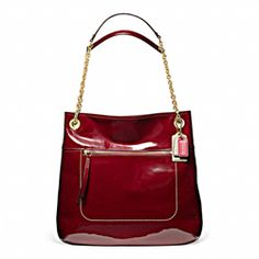 Poppy Patent Leather Slim Tote (Coach - 1.5% donation)