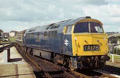 1013 Western Ranger arriving at Plymouth Penz-Padd Electric Locomotive, Diesel Locomotive, Transportation Technology, South Devon, British Rail, Old Trains, Train Pictures, Train Engines, Vintage Dog