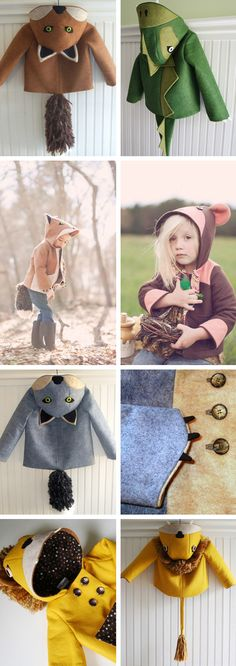 Wild coats from Little Goodall.  Sold on etsy.