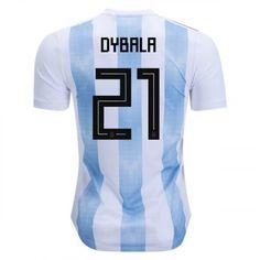 aa28f82af Men s Paulo Dybala  21 Argentina Home Jersey 2018 World Cup