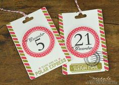 cute tags for December daily