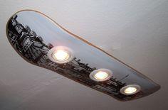 Deckenlampen - Skateboard Deckenlampe berlin - ein Designerstück von haegendas bei DaWanda