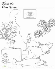 North Carolina State Symbols Coloring Pages sketch