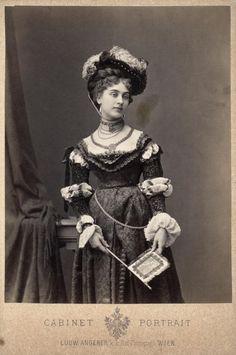 Johanna (Hanna) von Klinkosch (1846-1920) in costume.  She was the second wife of Prince Aloys (Louis) of Liechtenstein (1849-1925)  by Ludwig Angerer, source: ÖNB