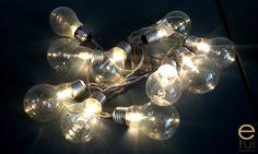 Sznur żarówek - oświetlenie diy za 10zł - e-tui.eu Light Bulb, Diy, Lamps, Home Decor, Lightbulbs, Decoration Home, Bricolage, Room Decor, Light Globes