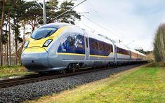 Eurostar E320, trains, 4k, British Rail Class 374, du ferroviaire, de l'Eurostar