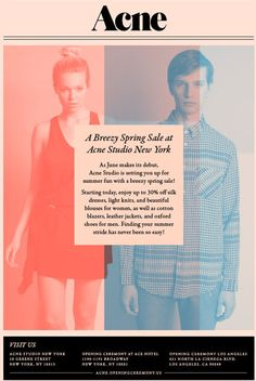 Acne Studio NYC Spring Sale