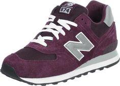 New Balance ML574 schoenen bordeaux rood grijs